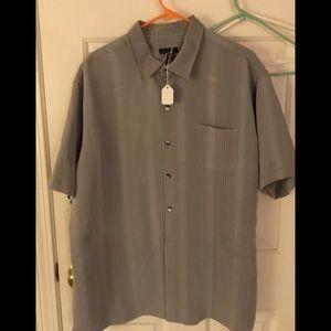 Van Heusen grey, men's shirt